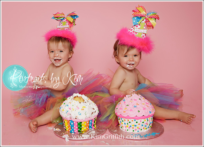 Cake Ideas For 1st Birthday Twins : Mechanicsville Md Twins First Birthday {Cake Smash ...